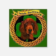 "IRISH-SETTER-CELTIC-MOUSEPA Square Sticker 3"" x 3"""