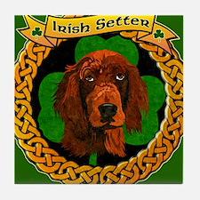 IRISH-SETTER-CELTIC-MOUSEPAD Tile Coaster