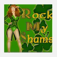 ROCK-MY-SHAMS-IRISH-MOUSEPAD Tile Coaster