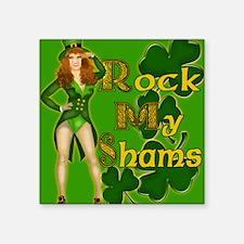 """ROCK-MY-SHAMS-IRISH-MOUSEPA Square Sticker 3"""" x 3"""""""