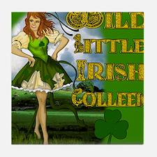WILD-LITTLE-IRISH-COLLEEN-MOUSEPAD Tile Coaster