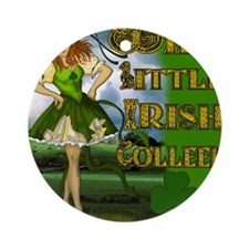 WILD-LITTLE-IRISH-COLLEEN-MOUSEPAD Round Ornament