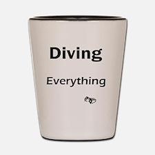diving1 Shot Glass