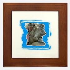 MONKEY LOVE Framed Tile