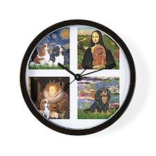 T-MPDogs 4 - Cavaliers-clear Wall Clock