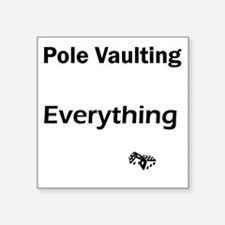 "pole vault1 Square Sticker 3"" x 3"""