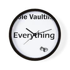 pole vault1 Wall Clock
