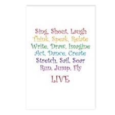 Live ! Postcards (Package of 8)