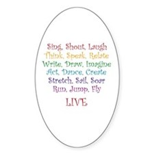 Live ! Oval Decal