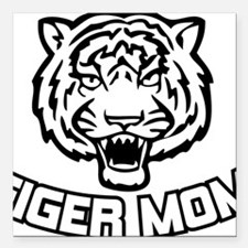 "Tiger mom Square Car Magnet 3"" x 3"""
