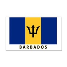 barbados-flag-labeled-35iw Car Magnet 20 x 12