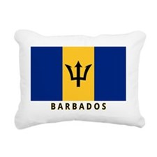 barbados-flag-labeled-35 Rectangular Canvas Pillow