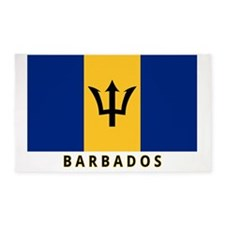 barbados-flag-labeled-35iw 3'x5' Area Rug