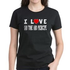 I Love Sao Time And Principe Tee