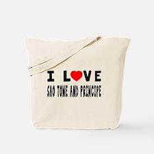 I Love Sao Time And Principe Tote Bag