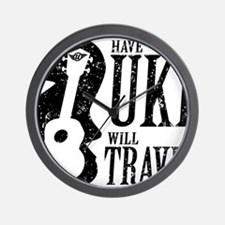 Have Uke Will Travel Wall Clock