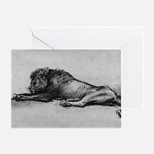 lion rembrant makeup bag1 Greeting Card
