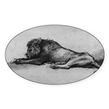 lion rembrant makeup bag1 Decal