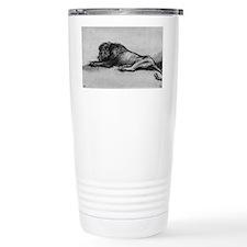 lion rembrant makeup bag1 Thermos Mug