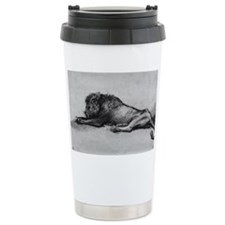lion rembrant makeup bag1 Travel Mug