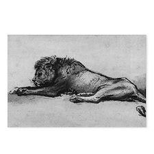 lion rembrant makeup bag1 Postcards (Package of 8)