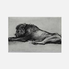 lion rembrant makeup bag1 Rectangle Magnet