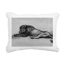 lion rembrant makeup bag Rectangular Canvas Pillow