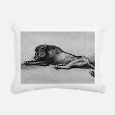 lion rembrant makeup bag Rectangular Canvas Pillow