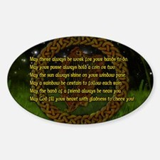 IRISH-BLESSING-LAPTOP- Sticker (Oval)