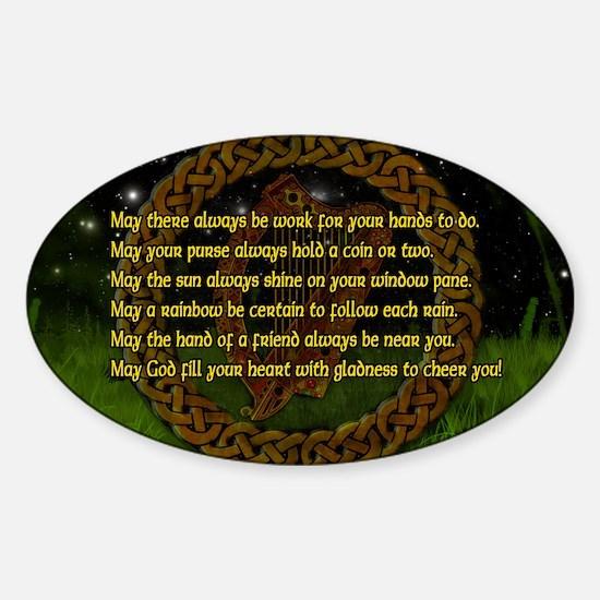 IRISH-BLESSING-LAPTOP- Sticker (Oval)