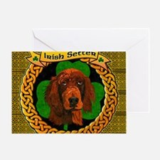 IRISH-SETTER-CELTIC-LAPTOP Greeting Card