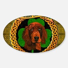IRISH-SETTER-CELTIC-LAPTOP Sticker (Oval)