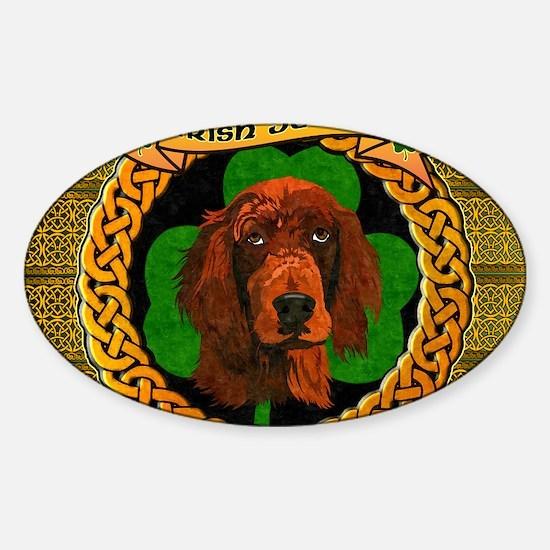 IRISH-SETTER-CELTIC-LAPTOP Sticker (Oval)