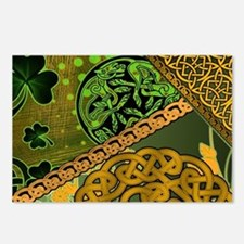 CELTIC-KNOTWORK-IRISH-LAP Postcards (Package of 8)