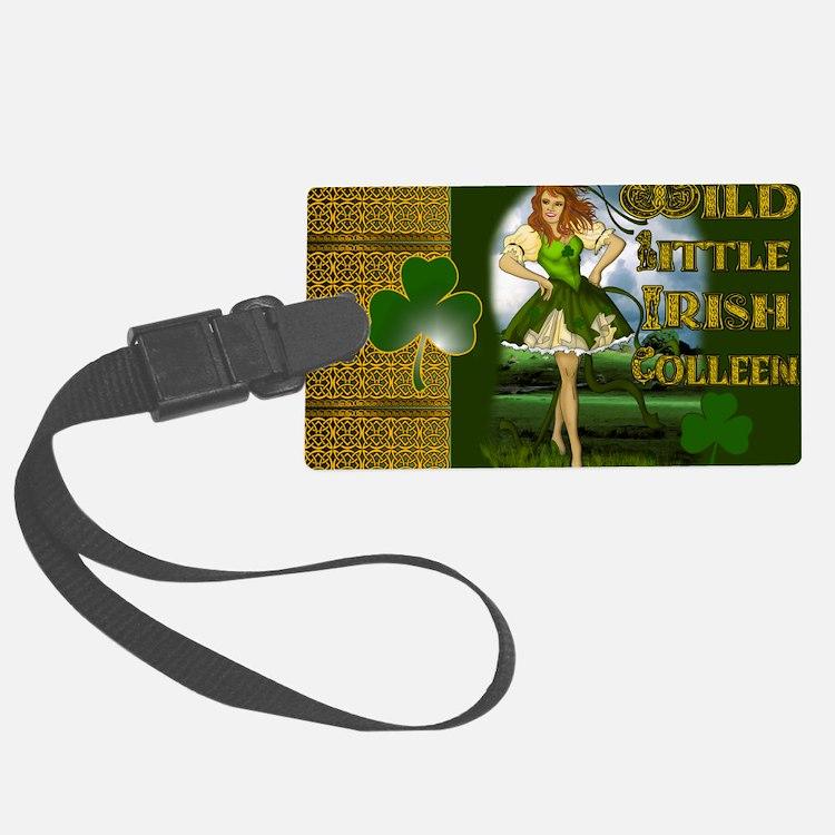 WILD-LITTLE-IRISH-COLLEEN-LAPTOP Luggage Tag