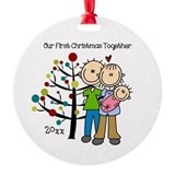 Family and baby Round Ornament