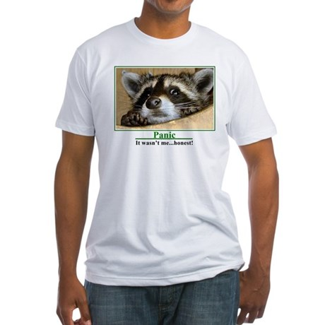 """Panic """"Racoon"""" Fitted T-Shirt"""