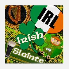 EMERAL-MEMORIES-IRISH-PILLOW Tile Coaster