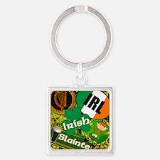 EMERAL-MEMORIES-IRISH-PILLOW Square Keychain