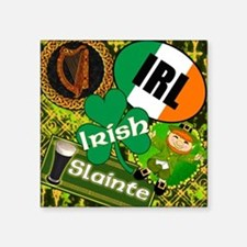 "EMERAL-MEMORIES-IRISH-PILLO Square Sticker 3"" x 3"""