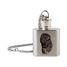 Neapolitan Mastiff 9Y393D-061 Flask Necklace