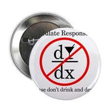"""Dont Drink and Derive - Wine 2.25"""" Button"""