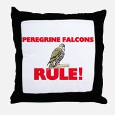 Peregrine Falcons Rule! Throw Pillow