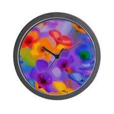 Art Whitaker Flowers 20 16 Wall Clock