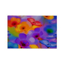 Art Whitaker Flowers 35 23 300 Rectangle Magnet