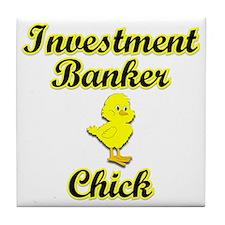 Investment Banker Chick Tile Coaster