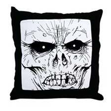 zombieface Throw Pillow