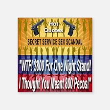 "scandal_800pecos Square Sticker 3"" x 3"""