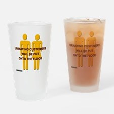Urinating_Customers Drinking Glass
