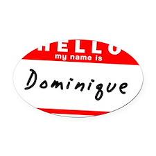 Dominique Oval Car Magnet